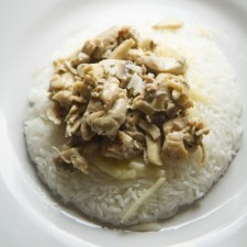 Chicken blanquette with rice