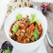 Vegetarian Chili and gourmet beans